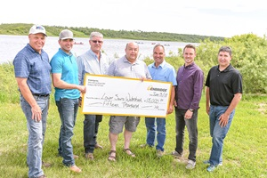Lower Souris Watershed Committee cheque presentation