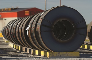 Coiled pipe steel
