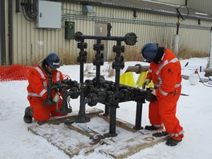 Pipeline 101 training with metering equipment