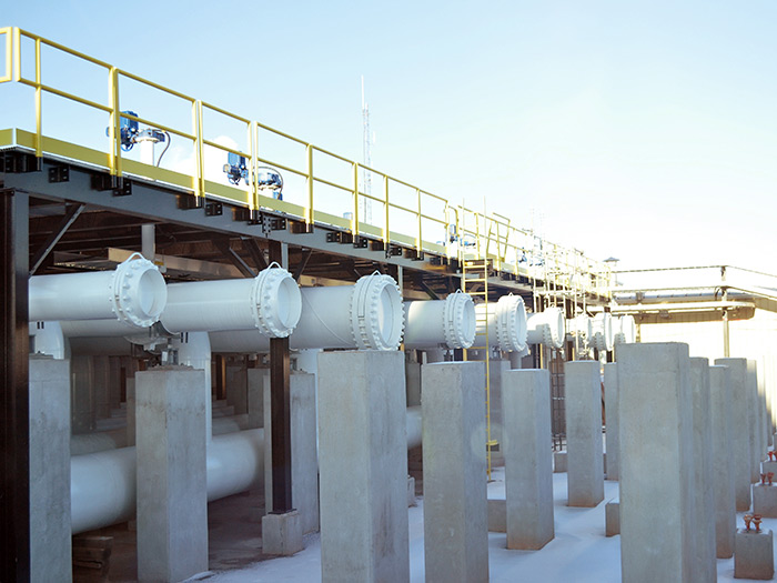 Terminal pipes in winter