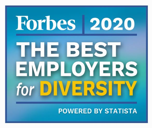 Forbes Best Employers for Diversity 2020 logo