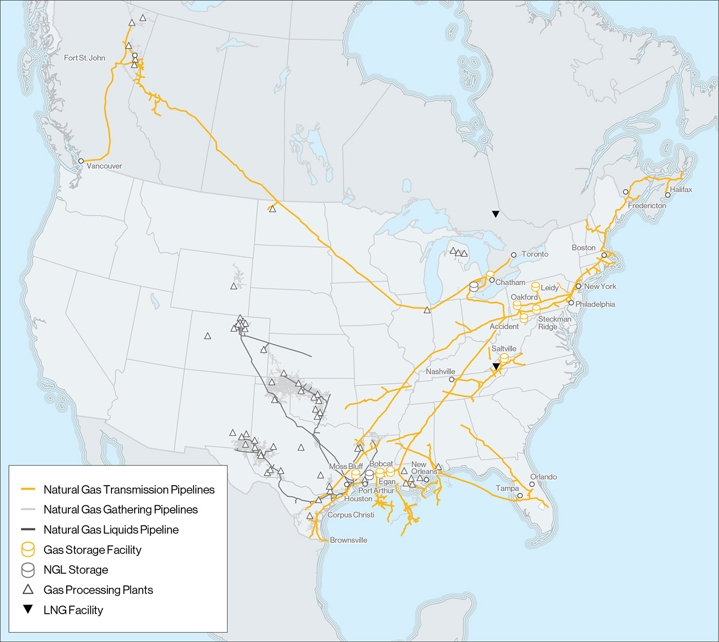 Enbridge All Asset Map Gas Transmission and Midstream