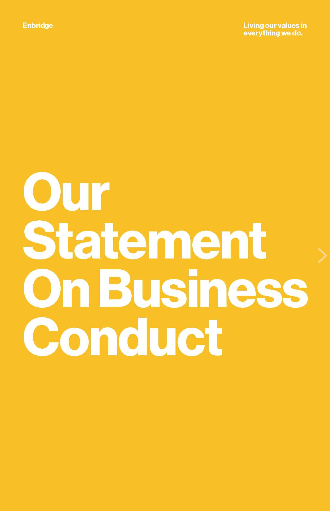 Statement on Business Conduct