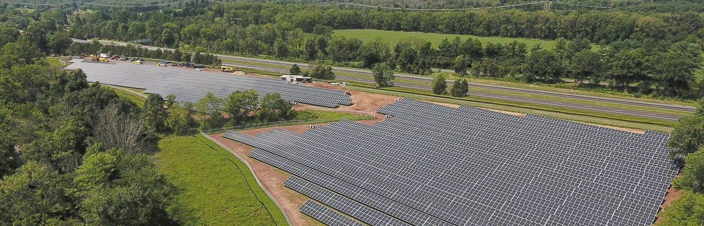 Solar energy farm in New Jersey