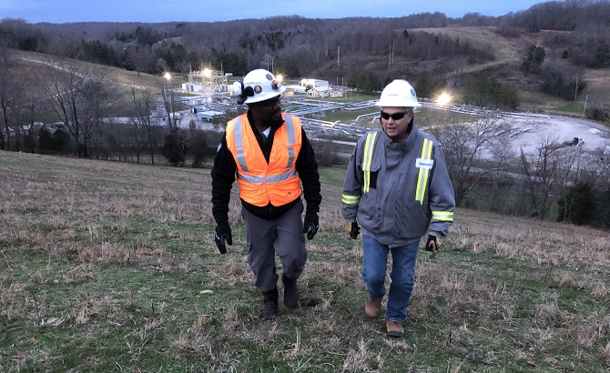 Enbridge employees at Mt. Pleasant compressor station in Tennessee
