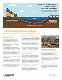 Horizontal Directional Drilling factsheet